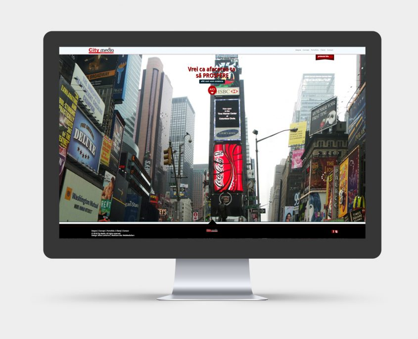 website design for outdoor advertising company