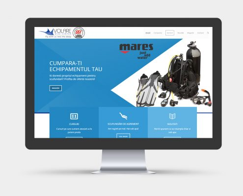 website design for SCUBA school